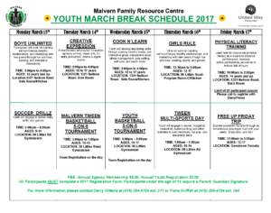 March Break MFRC
