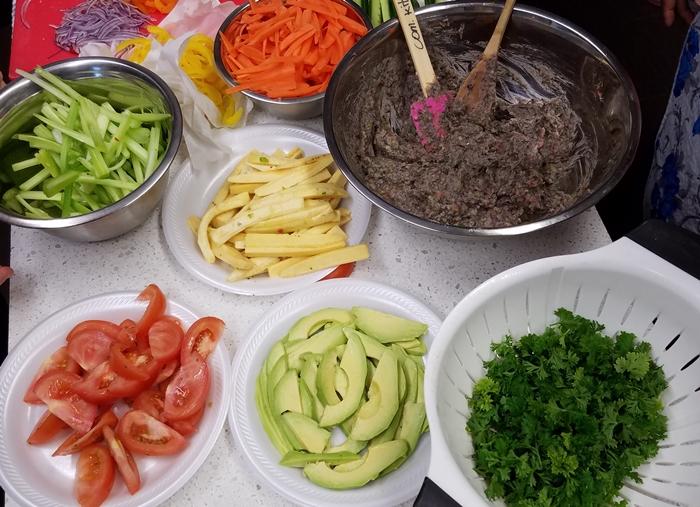 Black Bean Ingredients with vegetables